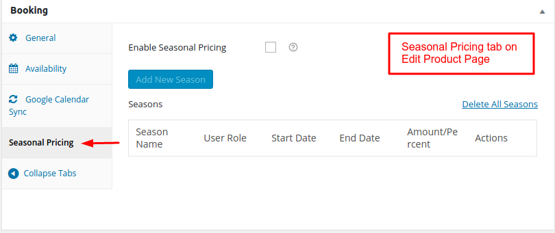 Seasonal Pricing addon Documentation for WooCommerce Booking and Appointment Plugin - Tyche Softwares