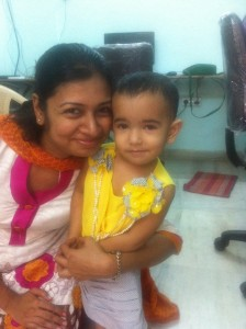 My wife & daughter