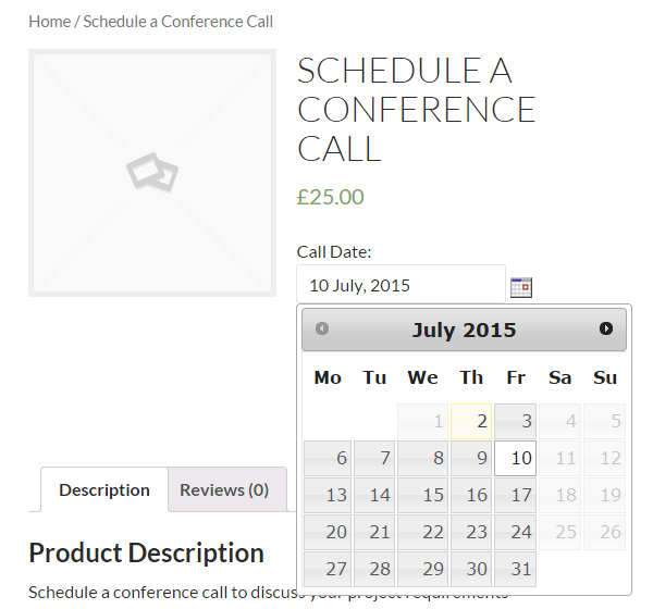 Turn your WooCommerce store into a booking platform - WooCommerce Booking Date Calendar