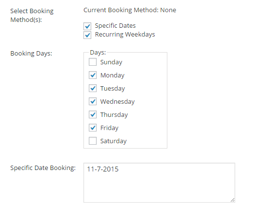 Turn your WooCommerce store into a booking platform -Specific Dates with Recurring Weekdays