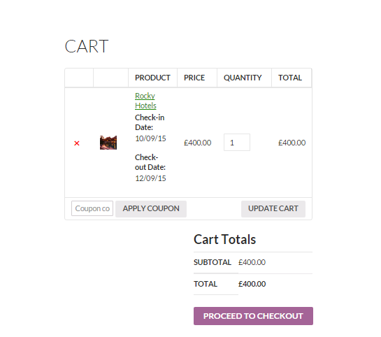 Book for minimum number of days with WooCommerce - Cart Page