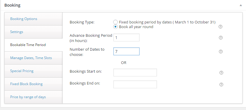 Hourly Rates in WooCommerce - Advanced booking settings