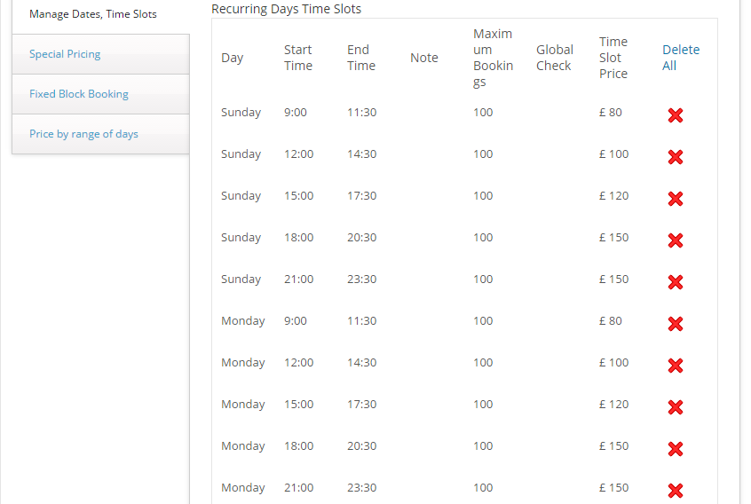 Hourly Rates in WooCommerce - Manage booking dates and time slots