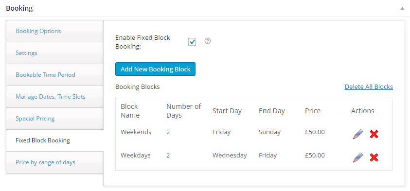 Rent Inventory based Equipment with WooCommerce - Fixed Block Booking Setting
