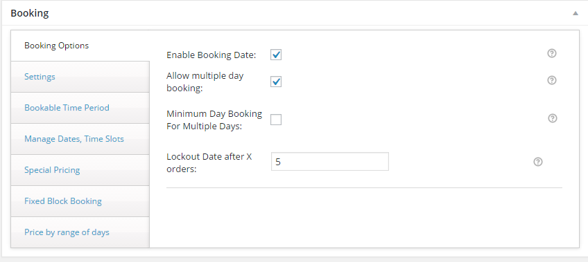 Rent Inventory based Equipment with WooCommerce - General Booking Settings