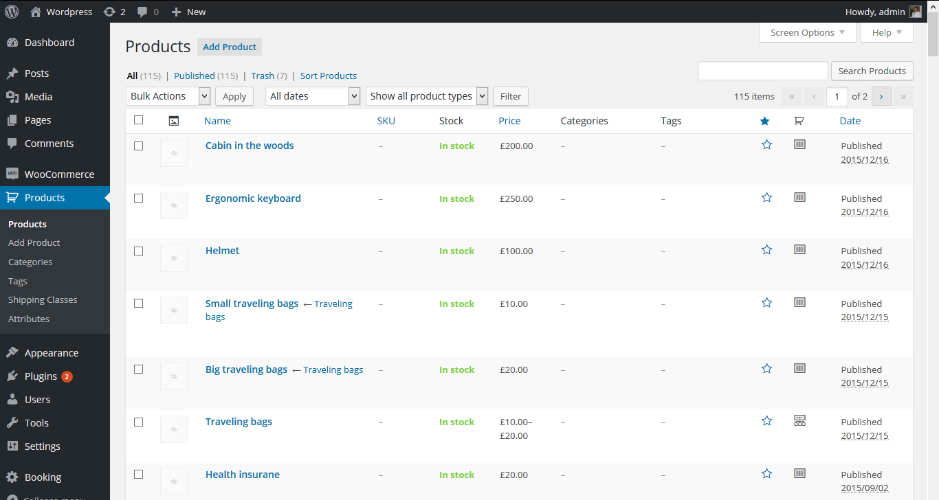 Sneak preview of our Testing Environment at Tyche Softwares - Product list on website