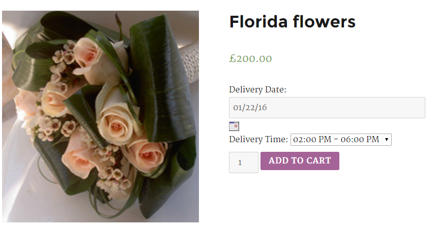 Delivery Date on product page for WooCommerce - Frontend
