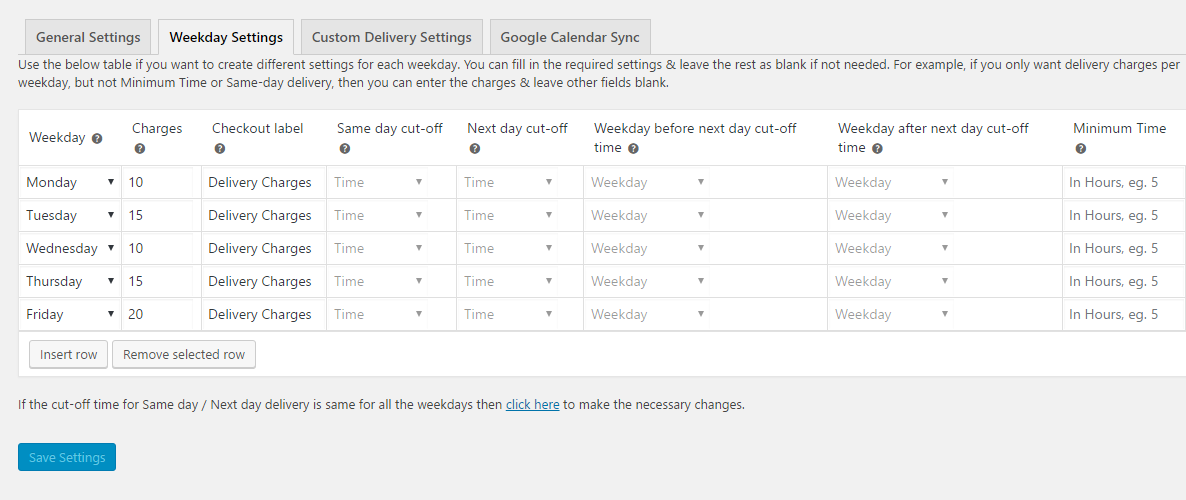 Changes in version 6.0 of Order Delivery Date Pro for WooCommerce - Weekday Settings