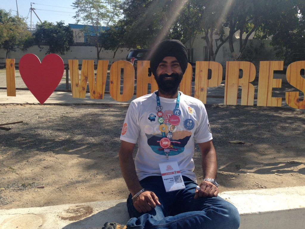 WordPress Love shown by Gagandeep Singh
