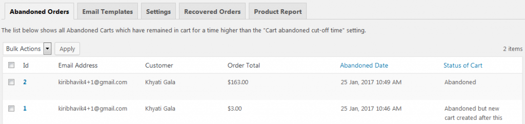 three_columns_1- Differences between Pro and Lite versions of Abandoned Cart for WooCommerce plugin