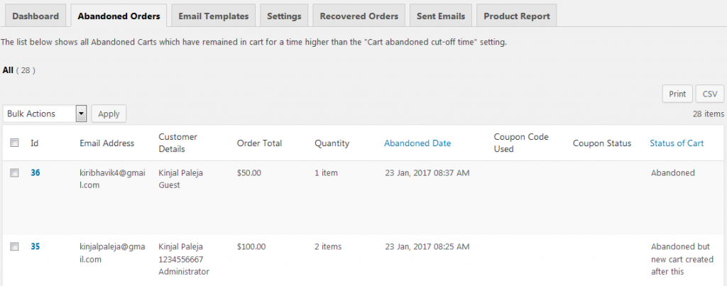 three_columns- Differences between Pro and Lite versions of Abandoned Cart for WooCommerce plugin