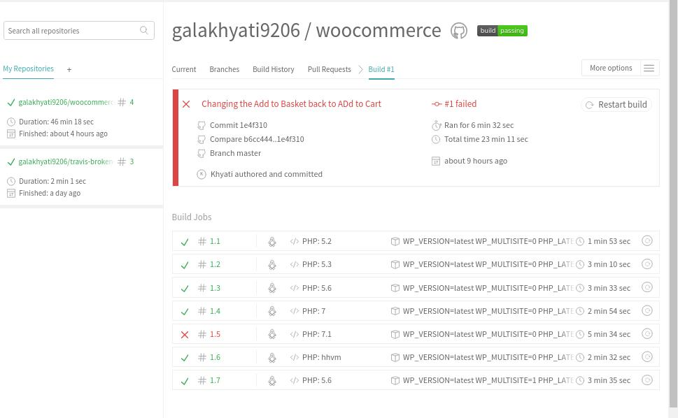 WooCommerce Automated Tests Travis CI Continuous Integration tools GitHub