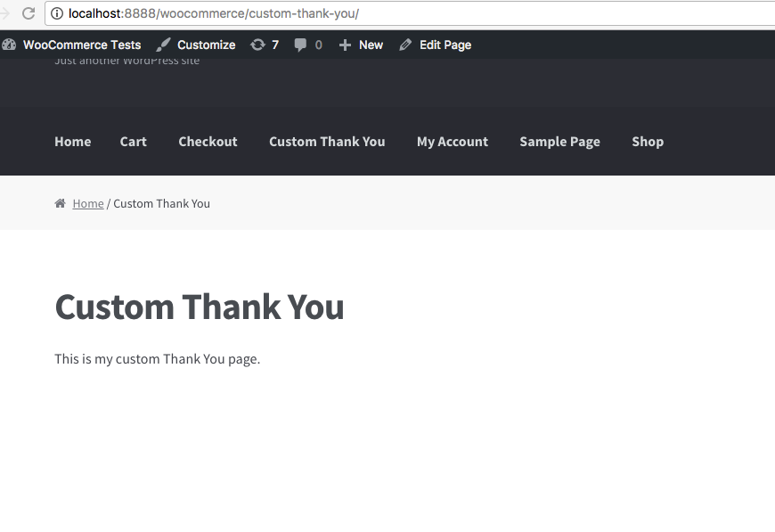 Customize WooCommerce Thank You page - WooCommerce Custom Thank You Page