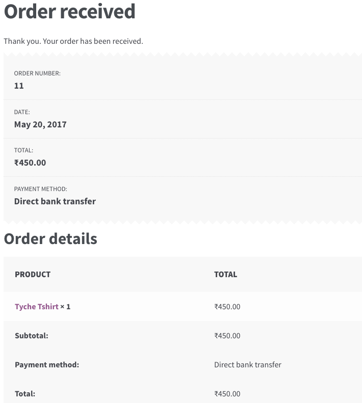 Customize WooCommerce Thank You page - WooCommerce - Thank You Page