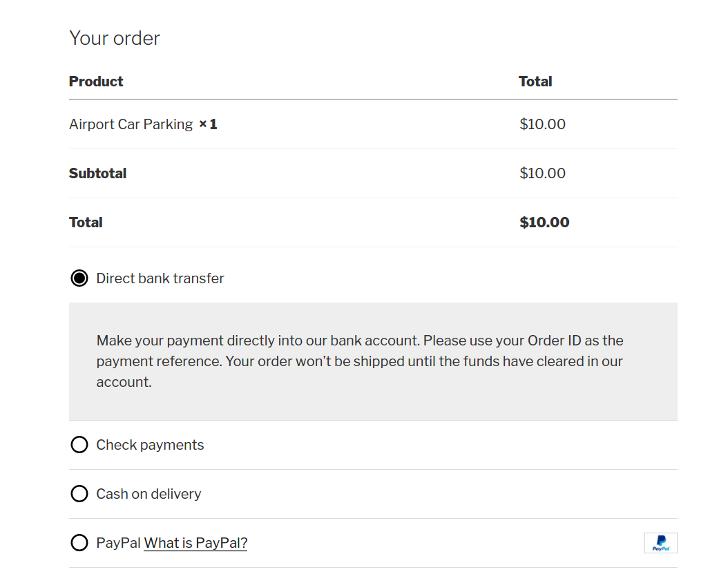 Cart details table without Quantity and Delete icon - How to modify the cart details on WooCommerce checkout page
