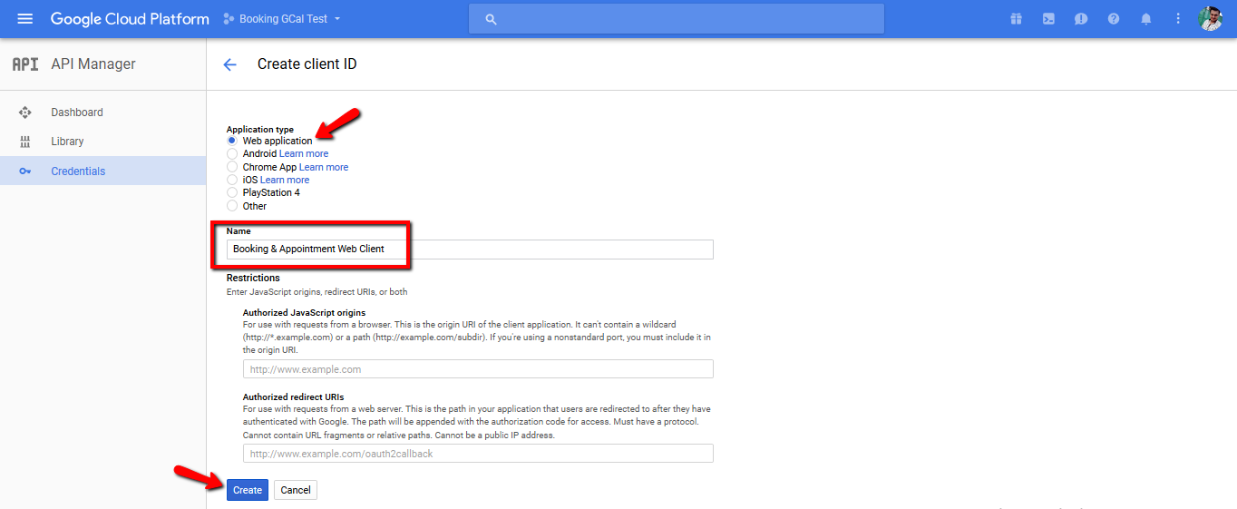 OAuth Client Creation