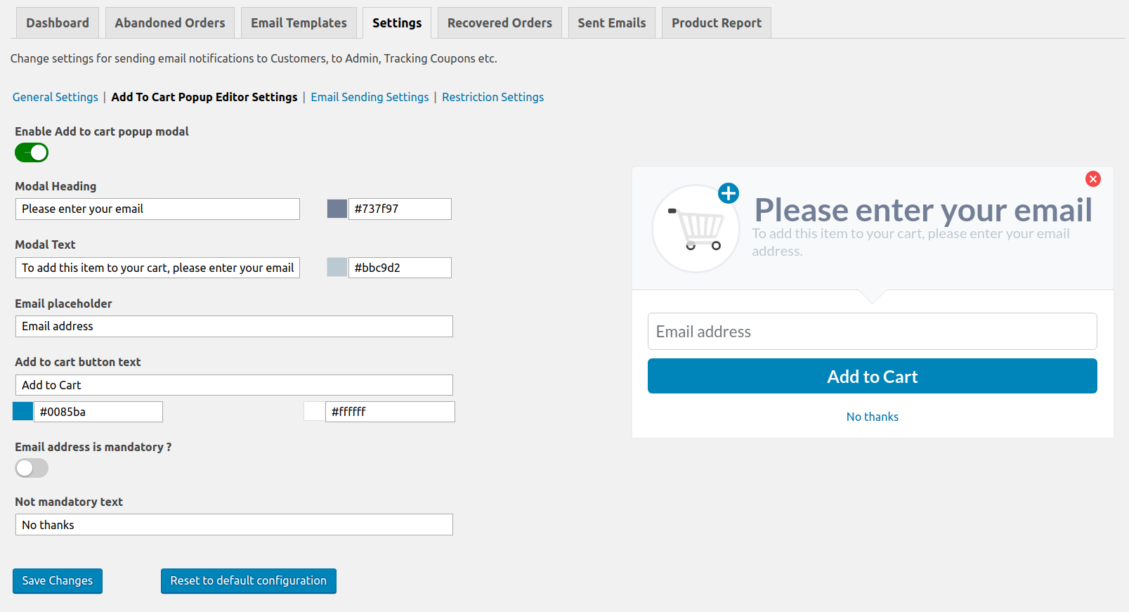 Capture Visitor Email Address before Checkout page with