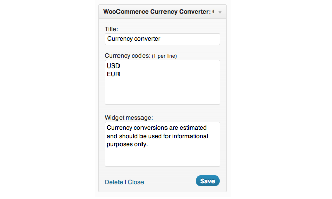 Best Free & Premium WooCommerce plugins - Currency Converter Widget