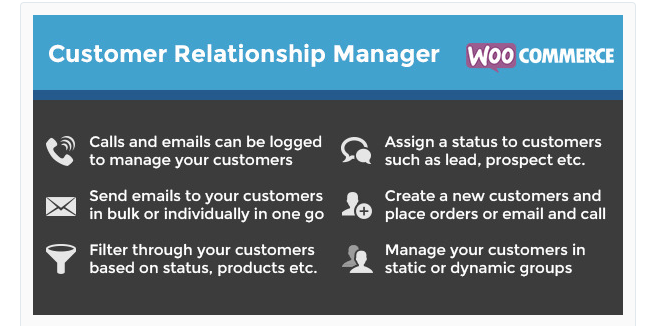 Best Free & Premium WooCommerce plugins - WooCommerce Customer Relationship Manager