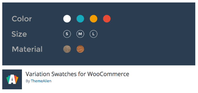 Best Free & Premium WooCommerce plugins - Variation Swatches for WordPress