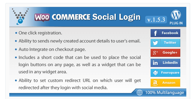 Best Free & Premium WooCommerce plugins - WooCommerce Social Login