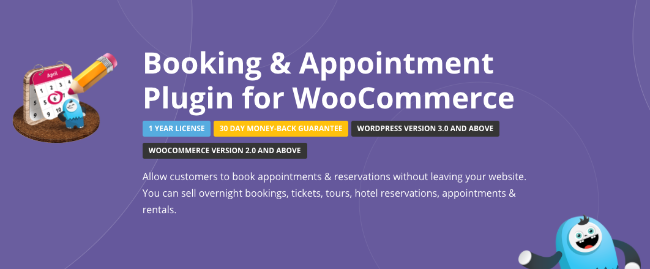 Best Free & Premium WooCommerce plugins - Booking and Appointment Plugin for WooCommerce