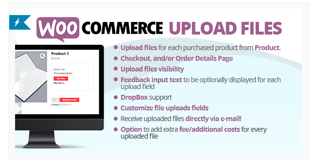 Best Free & Premium WooCommerce plugins - WooCommerce Upload Files