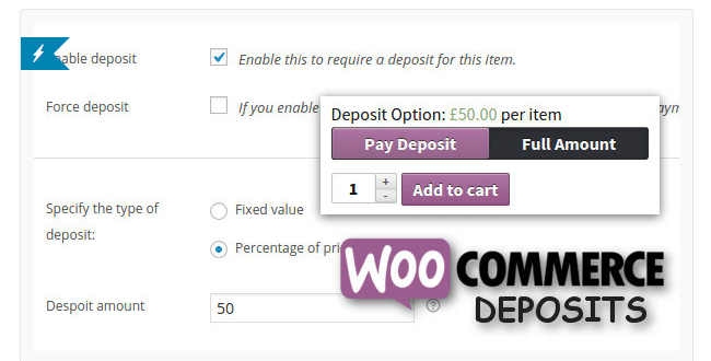 Best Free & Premium WooCommerce plugins - WooCommerce Deposits