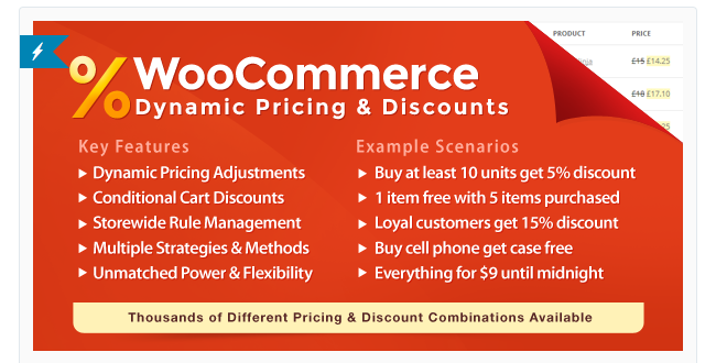 Best Free & Premium WooCommerce plugins - WooCommerce Dynamic Pricing and Discounts