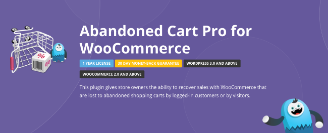 Best Free & Premium WooCommerce plugins - Abandoned Cart Pro for WooCommerce
