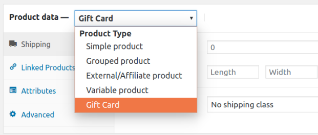 Add a New Custom Product type in WooCommerce - drop-down