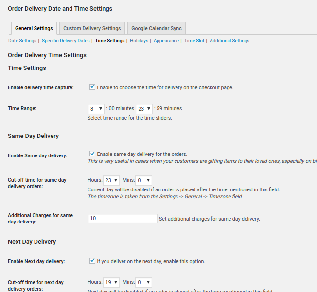WooCommerce Delivery Date and Delivery Time