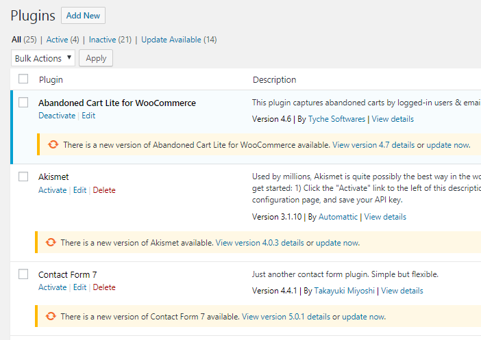 How to update Abandoned Cart Lite for WooCommerce plugin? - Tyche Softwares