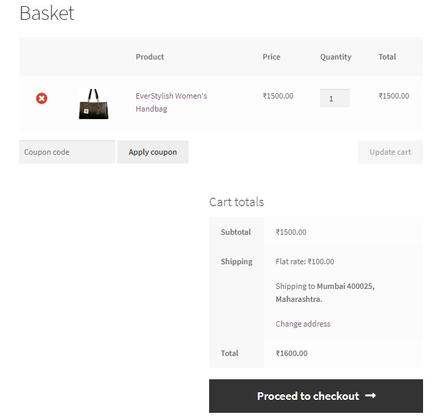 remove the Proceed to checkout button from the Cart page in WooCommerce - The WooCommerce Cart page