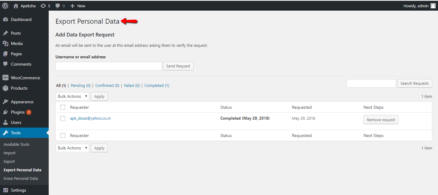 Product Delivery Date Pro for WooCommerce plugin - Export Personal Data