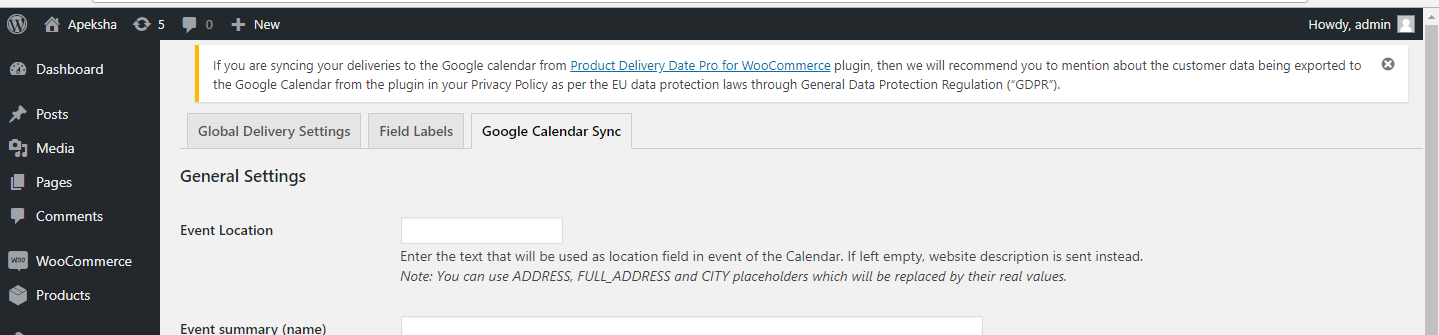 Product Delivery Date Pro for WooCommerce plugin