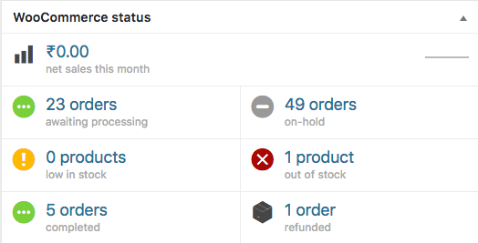 How to add a new WooCommerce order status into Dashboard widget