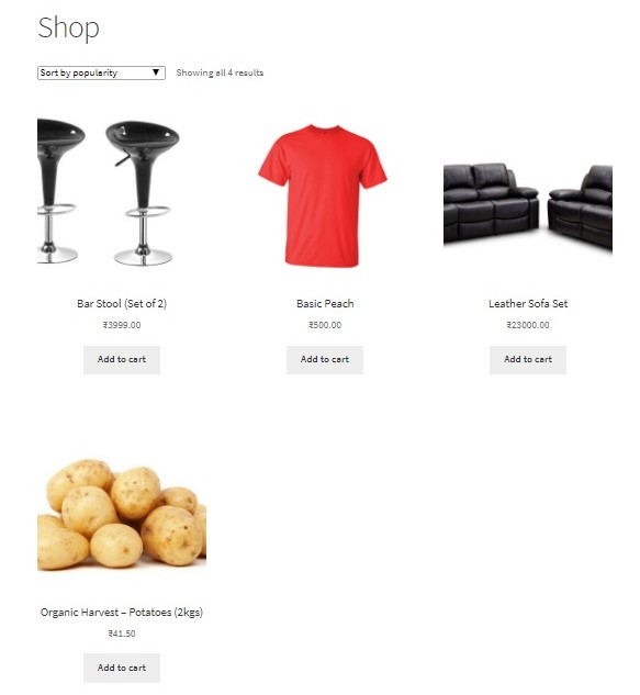 How to change the Add to cart button on the WooCommerce Category and Shop pages and link it to the Product page - Default Add to cart button on Shop Page