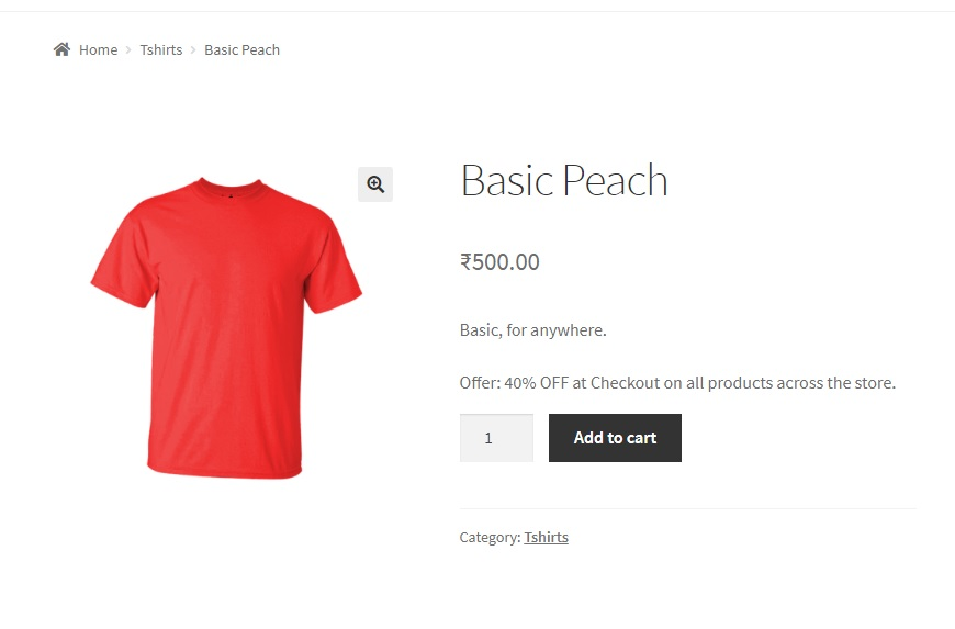 How to add text below the short description of the Product in WooCommerce - Added text to short description example2
