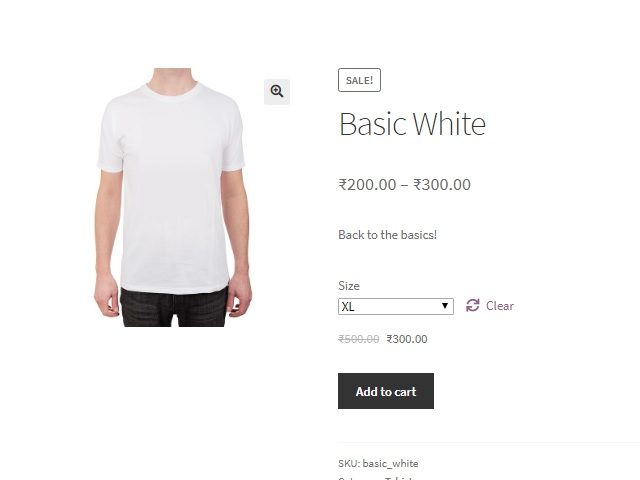 "display ""You Save x%"" below sale prices for simple and variable products in WooCommerce - Variable Product with Variation Selected"