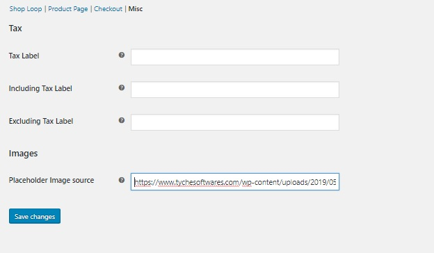 Change Default Category Thumbnail on WooCommerce Shop Page - WooCommerce Customizer Misc Options
