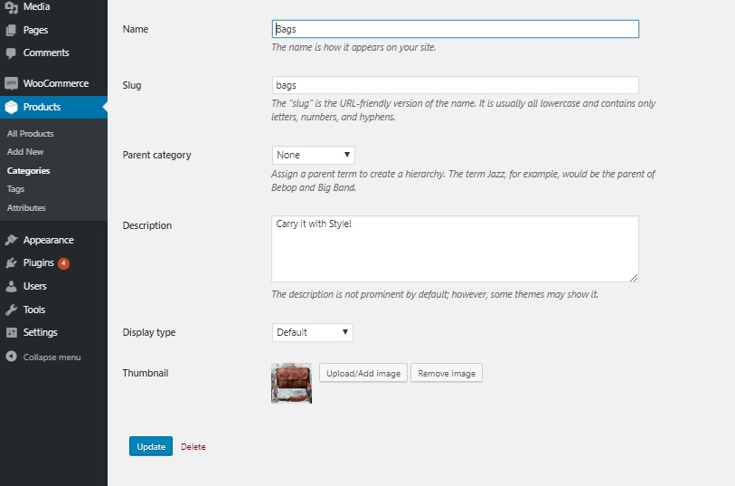 Change Default Category Thumbnail on WooCommerce Shop Page - Custom category thumbnail added