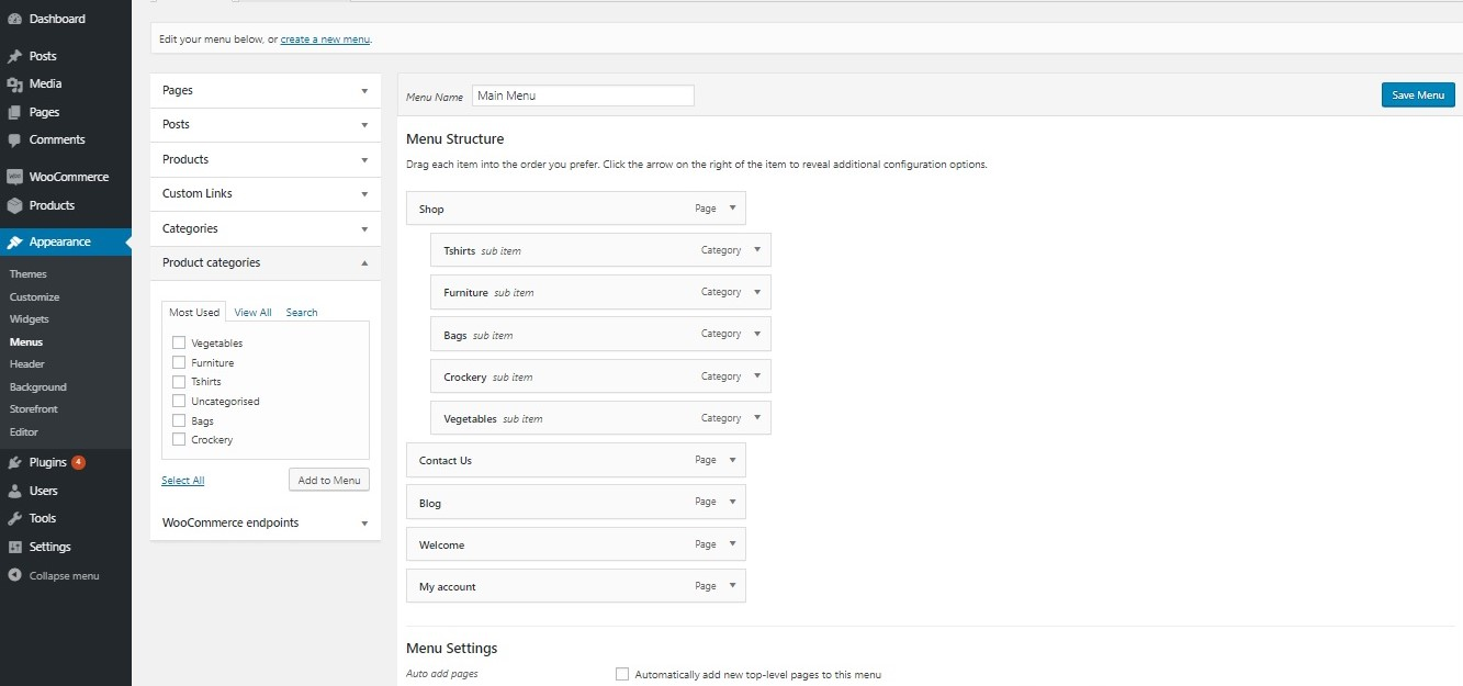 How to show WooCommerce categories in the menu - Adding Product Categories to Menu