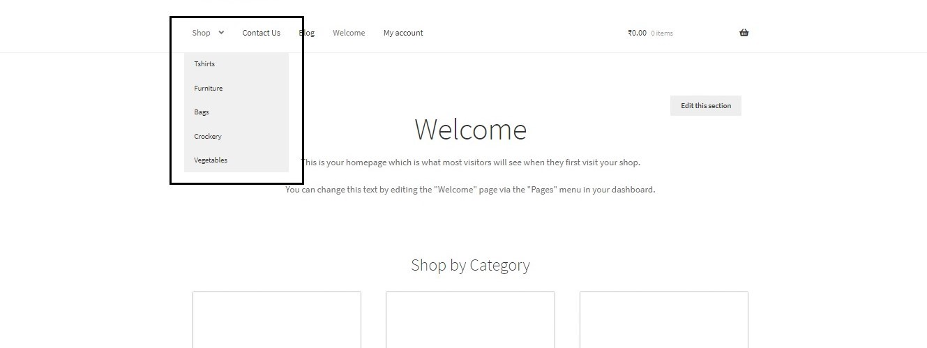 How to show WooCommerce categories in the menu - Categories displayed in Menu