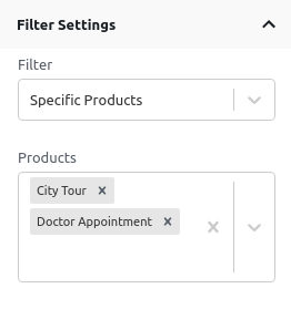 Specific Products Filter - Filters Settings