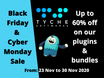 Black Friday and Cyber Monday Sale at Tyche Softwares